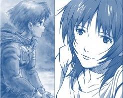 Yui and Nausicaa in manga